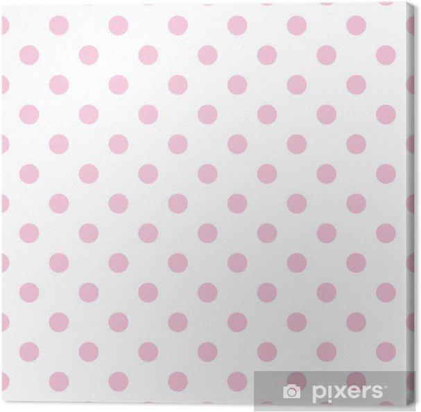 Quadro Su Tela Seamless Vector Pattern Pastello Rosa A Pois Sfondo