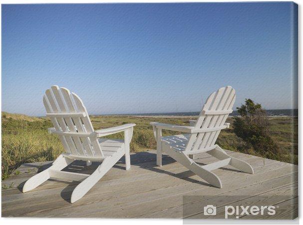Tela Per Sedie A Sdraio.Quadro Su Tela Sedie A Sdraio In Spiaggia Pixers Viviamo Per