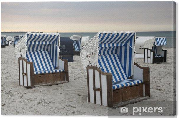 Tela Per Sedie A Sdraio.Quadro Su Tela Sedie A Sdraio Sulla Spiaggia Del Mar Baltico