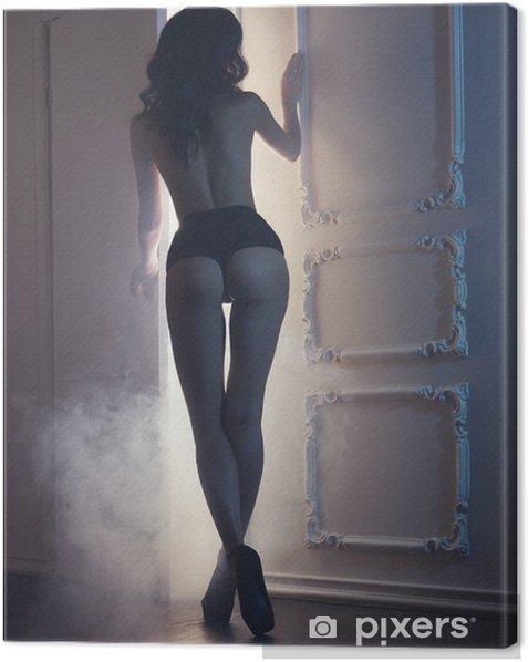 Quadro su Tela Sensuale donna in interni classici - Lingerie