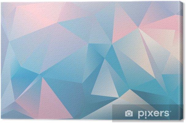 Quadro Su Tela Sfondo Astratto Triangolo Colore Azzurro Rosa E