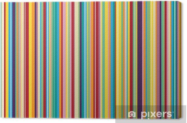 Quadro su Tela Sfondo con strisce colorate - senza soluzione di continuità ripetibile - Celebrazioni