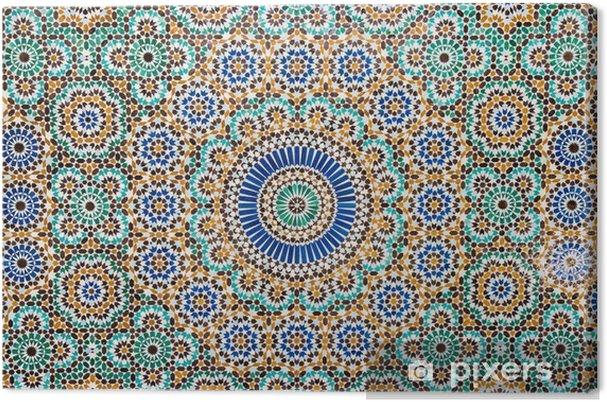 Quadro su tela sfondo di piastrelle depoca marocchina u2022 pixers