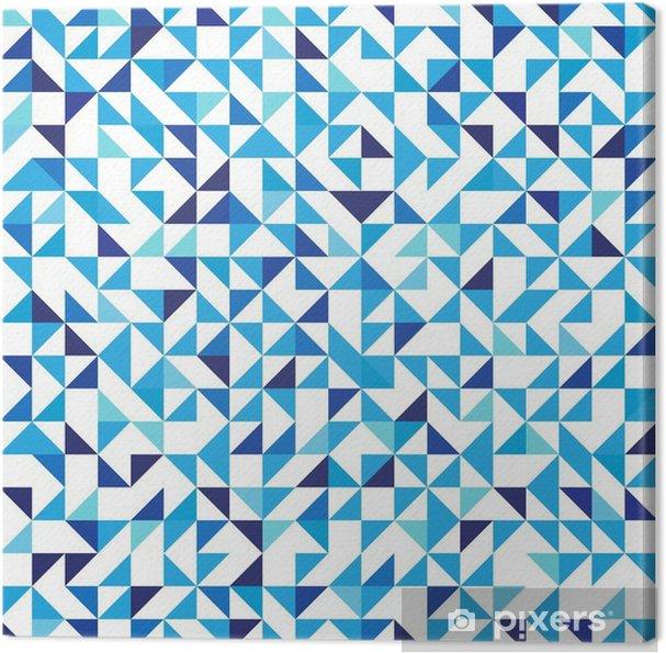 Quadro Su Tela Sfondo Geometrico Blu Con Triangoli Seamless Pattern