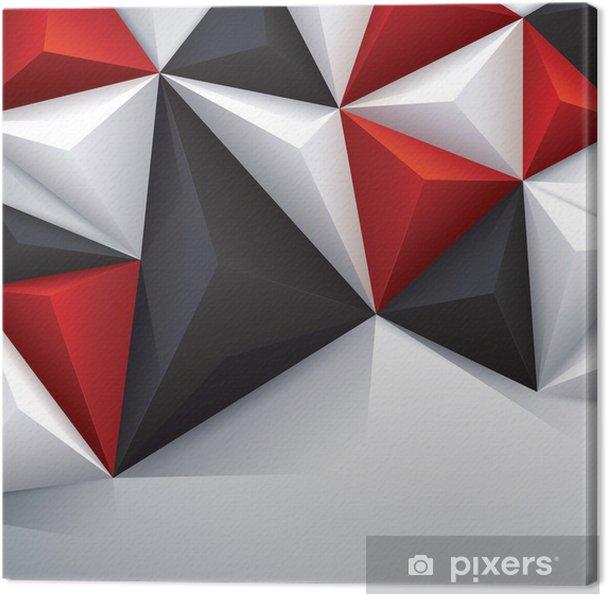 Quadro Su Tela Sfondo Geometrico Nero Rosso E Bianco Pixers
