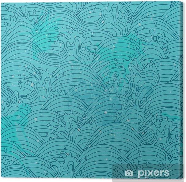 Quadro Su Tela Sfondo Onda Del Mare Seamless Pattern Pixers