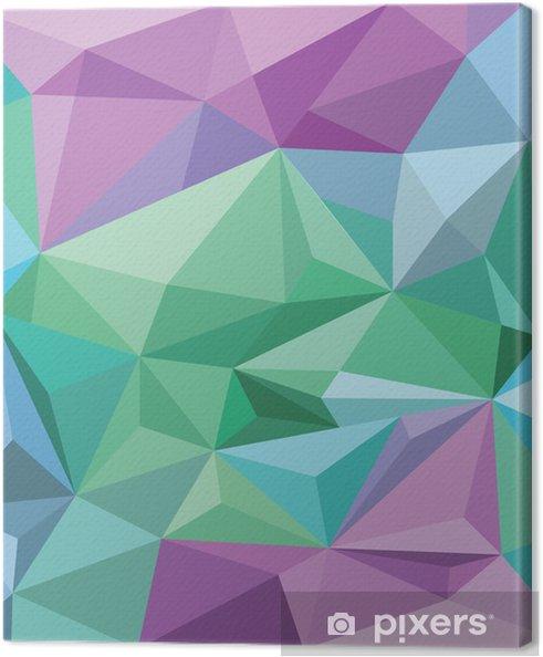 Quadro Su Tela Sfondo Sfondo Angolare In Verde Blu E Viola