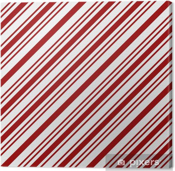 Quadro Su Tela Sfondo Tessuto Rosso E Bianco A Strisce Pixers