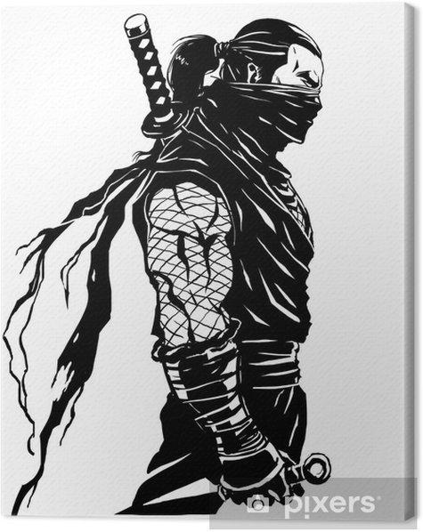 Quadro su Tela Shinobi ninja - Adesivo da parete