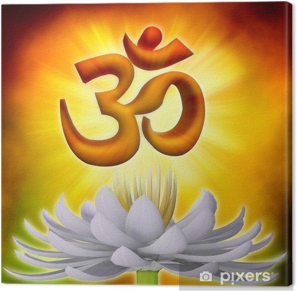 Quadro su Tela Simbolo Om - Buddismo