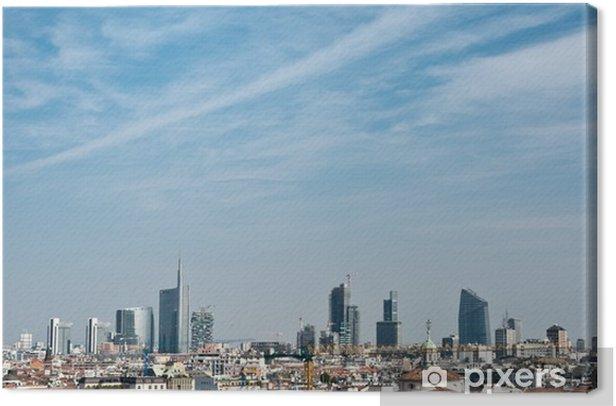 Quadro su Tela Skyline di Milano - Concetti di Business