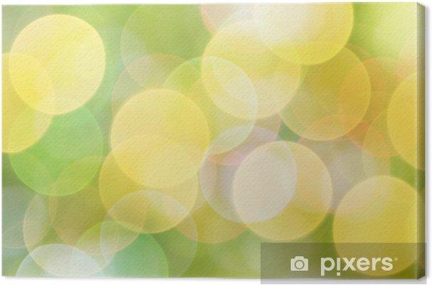 Quadro Su Tela Soleggiato Astratto Sfondo Verde Natura Pixers