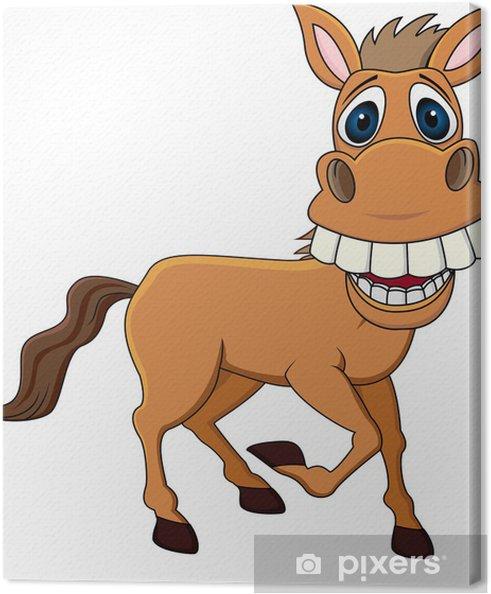 Quadro su tela sorridente cavallo cartone animato u2022 pixers