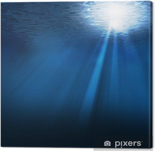 Quadro Su Tela Sotto Il Mare Blu Profondo Pixers Viviamo Per Il