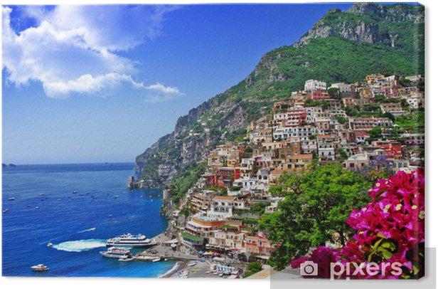 Quadro su Tela Splendido scenario della costiera amalfitana d'Italia, Positano. - Temi