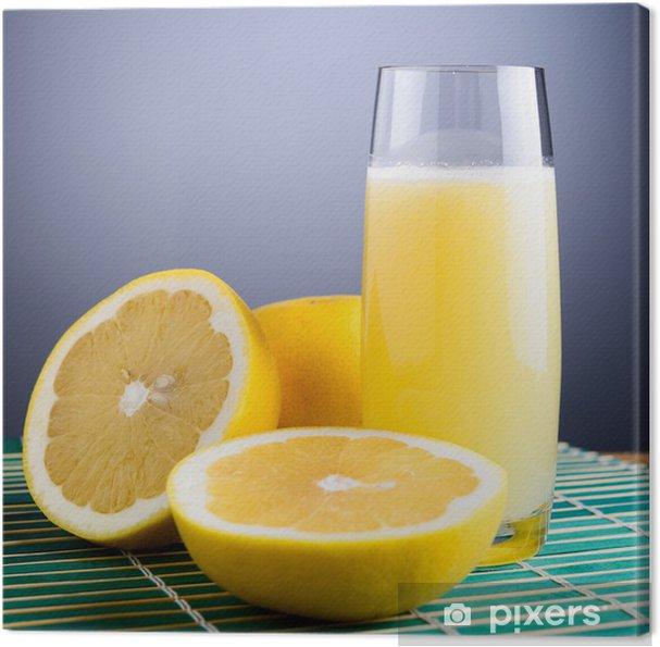 Quadro su tela spremuta di pompelmo bianco white grapefruit juice