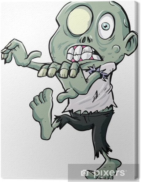 Quadro su tela stalking zombie cartone animato u2022 pixers® viviamo