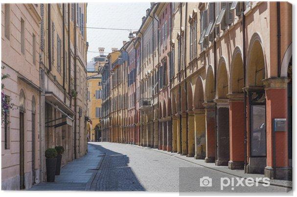 Quadro su Tela Strada medievale nel centro storico di Modena, Italia - Monumenti