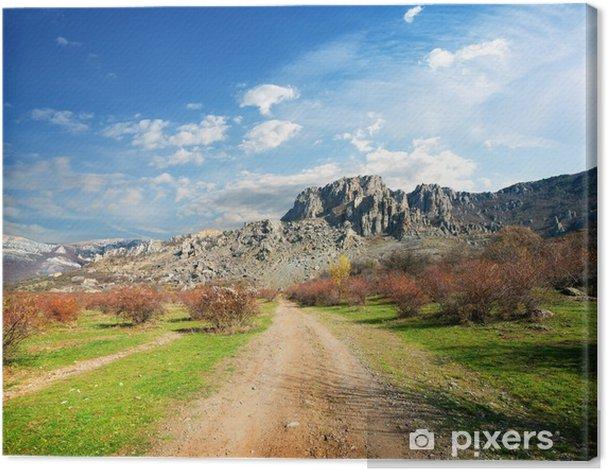 Quadro su Tela Strada verso le montagne - Montagne