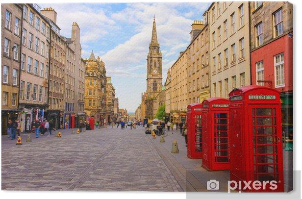 Quadro su Tela Street view di Edimburgo, Scozia, Regno Unito - Temi