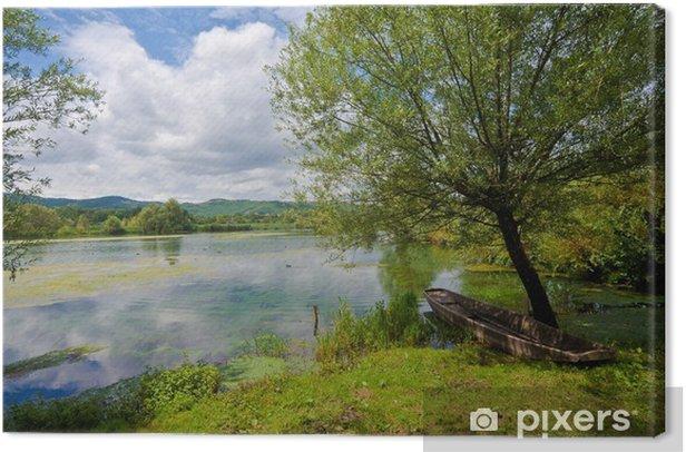 Quadro su Tela Sul lago di Posta Fibreno (FR) - Stagioni