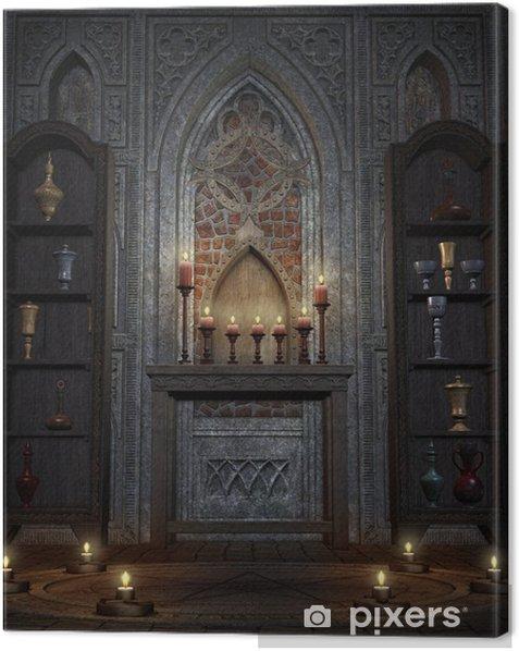Quadro su Tela Świątynia fantasia 3 - Esoterismo