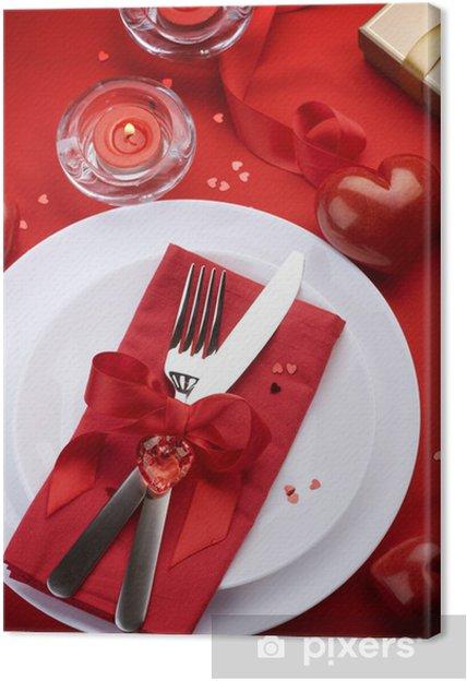 San Valentino Tavolo.Quadro Su Tela Tavolo Per San Valentino