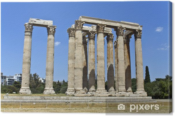 Zeus Architettura D Interni.Quadro Su Tela Tempio Di Zeus Olimpio A Atene Grecia