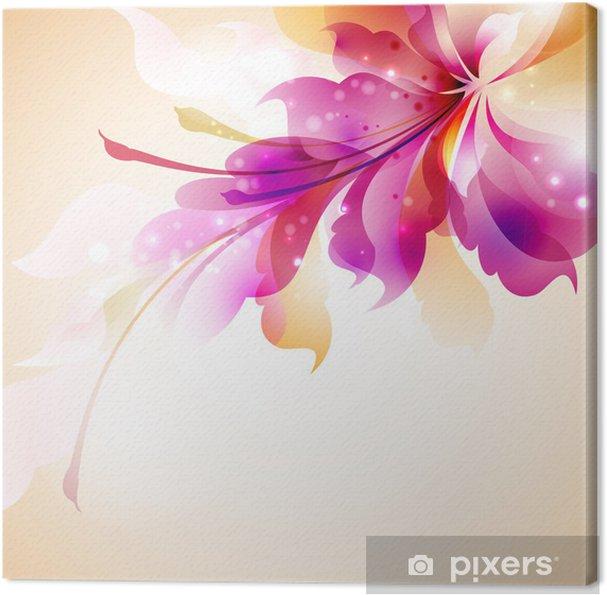Quadro su Tela Tender sfondo con fiori astratti