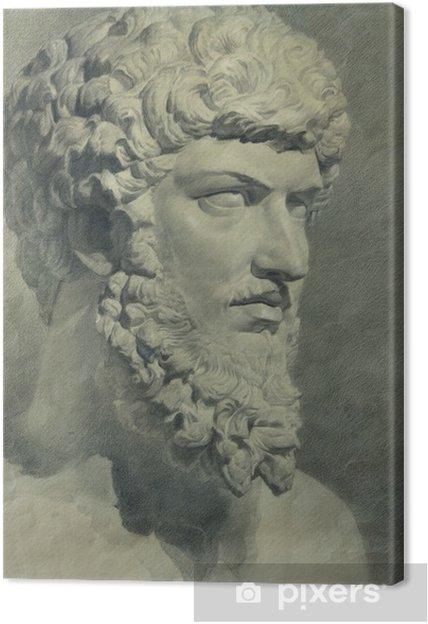 Quadro su Tela Teste figura in gesso delle statue antiche • Pixers ...