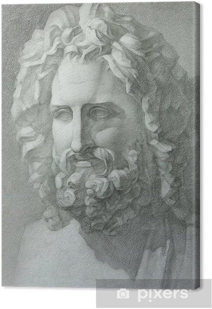 Quadro su Tela Teste figura in gesso delle statue antiche