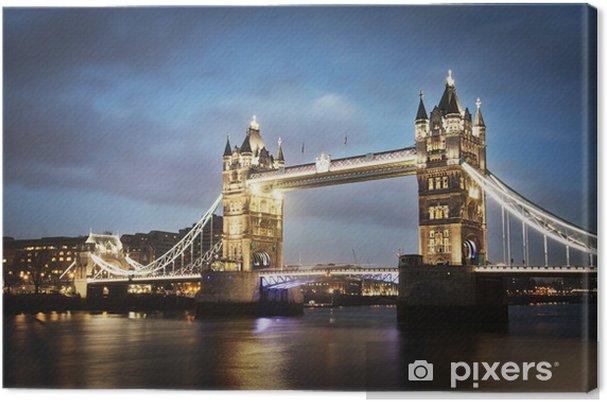 Quadro su Tela Tower Bridge di notte, Londra. - Temi