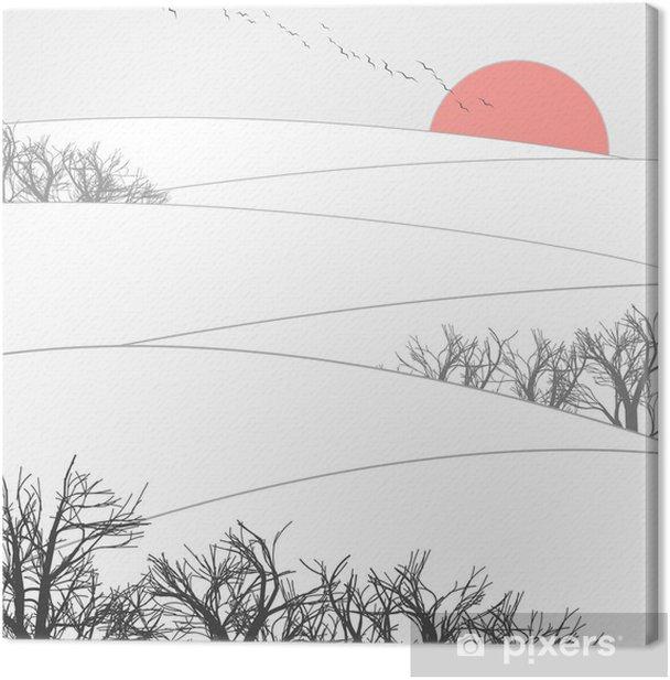 Quadro su Tela Tramonto invernale - iStaging 2