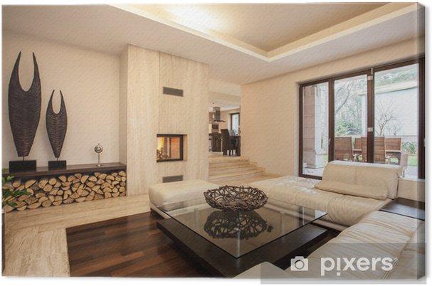 Quadro su Tela Travertino casa: soggiorno beige • Pixers® - Viviamo ...