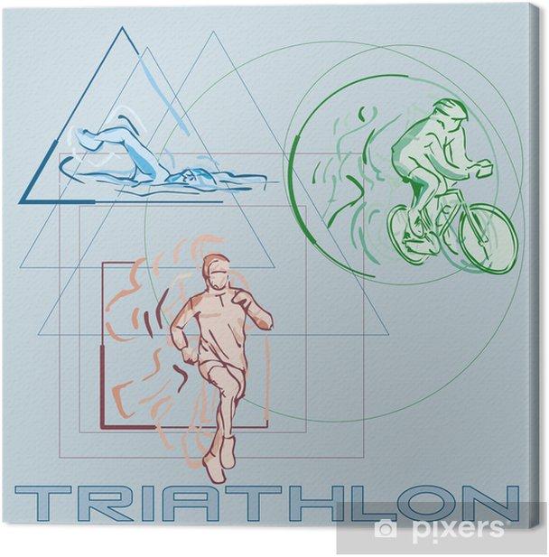 Quadro su Tela Triatlon - Sport acquatici