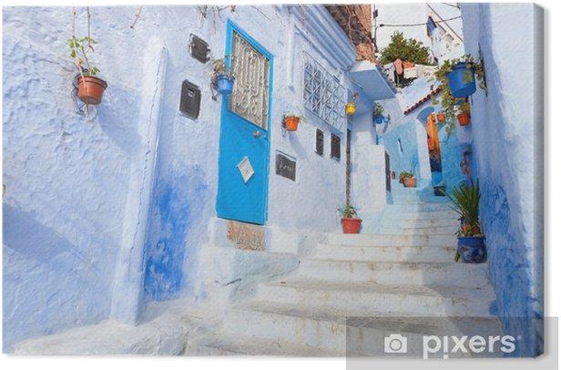 Quadro su Tela Un vicolo nella medina, Chefchaouen, Marocco - Temi