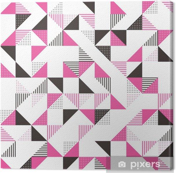 Quadro Su Tela Uno Sfondo Geometrico Rosa E Grigio