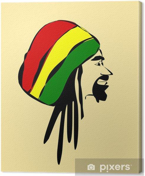 Quadro su Tela Uomo che indossa cappello reggae e dreadlocks - Uomini. da28  € 83b40aef668f