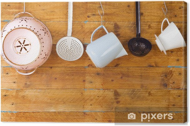 Quadro su Tela Utensili da cucina vintage, concetto di cucina, spazio copia  gratuita