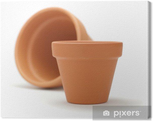 Vaso Di Coccio.Quadro Su Tela Vaso Di Terracotta Vasi Di Giardinaggio Isolati Su Bianco
