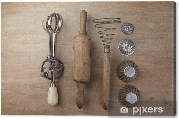 Quadro su Tela Vecchi utensili da cucina • Pixers® - Viviamo per il ...