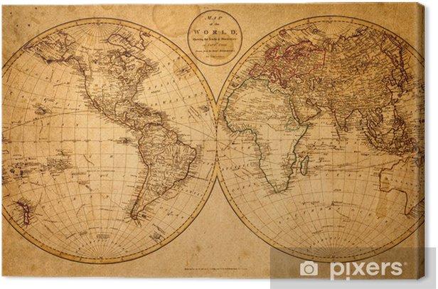 Quadro su Tela Vecchia mappa del 1799 - Temi