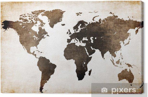 Quadro su Tela Vecchia mappa del mondo - Temi
