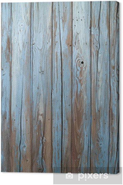 Quadro su Tela Vecchio muro di legno blu -