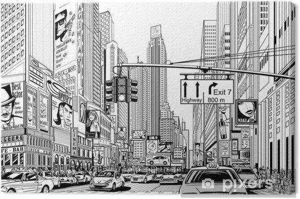 Quadro su Tela Via nella città di New York - Urbano