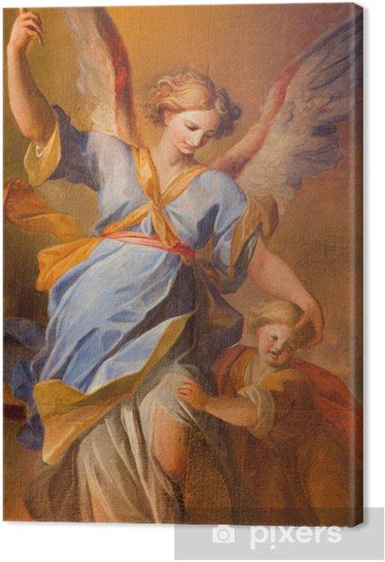 Quadro su Tela Vienna - il dolore di Angelo custode in chiesa barocca dei gesuiti - Temi