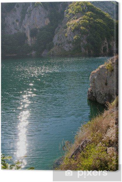 Quadro su Tela Villa Lago - Abruzzo - Europa