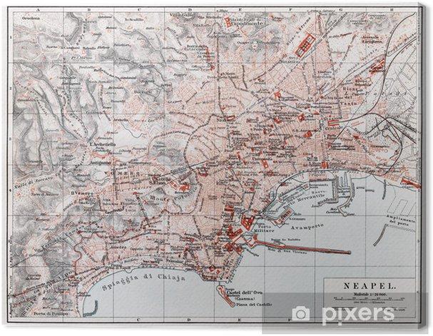 La Cartina Di Napoli.Quadro Su Tela Vintage Mappa Di Napoli Napoli Alla Fine Del 19 Secolo Pixers Viviamo Per Il Cambiamento