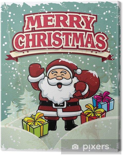 Immagini Vintage Natale.Quadro Su Tela Vintage Natale Inserzionista Con Babbo Natale Disegno Pixers Viviamo Per Il Cambiamento