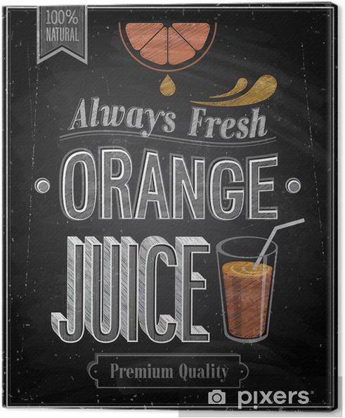 Quadro su tela vintage orange juice lavagna. illustrazione di